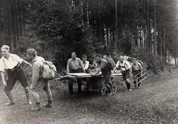 Transport der Hütte