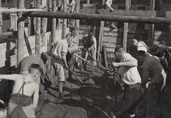 Wiederaufbau der Blockhütte
